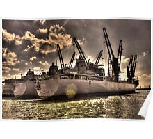 Ships Out To Sea Poster