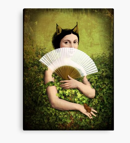 Her secret Canvas Print