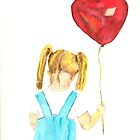 The Red Balloon- Greeting Card Design by BSweeney