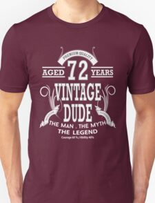 Vintage Dud Aged 72 Years Unisex T-Shirt