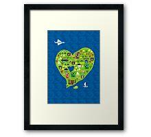 heart island Framed Print