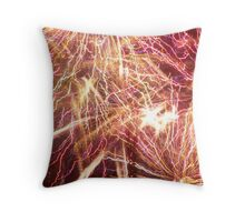Celebrating Fourth of July with Fireworks Throw Pillow