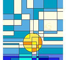 Geometric Sunset  Photographic Print