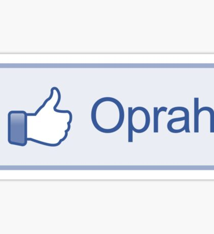 """Like Button """"Oprah"""" Shirt Sticker"""