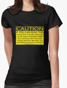 Accident prone Womens Fitted T-Shirt