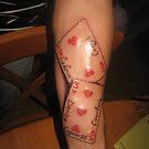 Playing Cards Tattoo by Gary Goza II