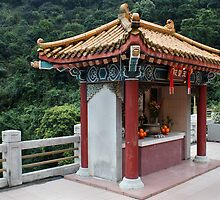 Temple on the way to Tai Mo Shan Country Park by Rosie Appleton
