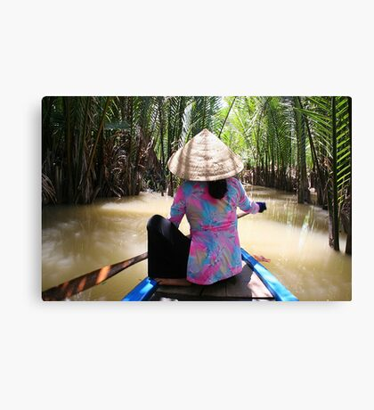 Mekong Paddle Canvas Print