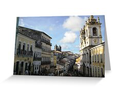 Downtown Salvador Greeting Card