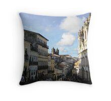 Downtown Salvador Throw Pillow