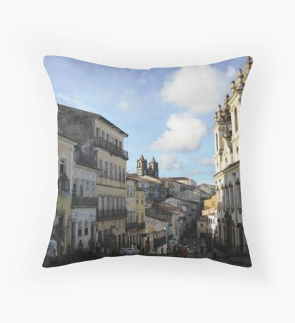 Downtown Salvador Throw Pillow