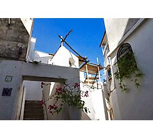 Whitewashed Mediterranean Beauty at Number 17 Photographic Print