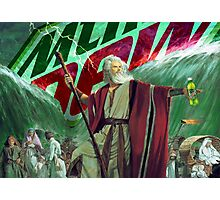 Moses Parting the Mountain Dew Photographic Print