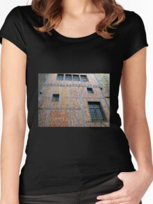 Facade - Carcassonne Castle Women's Fitted Scoop T-Shirt