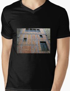Facade - Carcassonne Castle Mens V-Neck T-Shirt