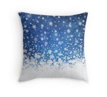 Winter background Throw Pillow
