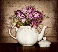 Vintage Tea Roses by Karen Scrimes