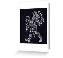 Hic Codex Auienii Continent Epigrama Astronomy Rufius Festivus Avenius 1488 Astronomy Illustrations 0131 Constellations Inverted Greeting Card