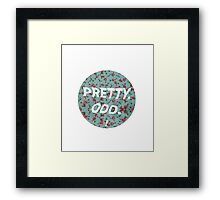 pretty. odd. - white text Framed Print