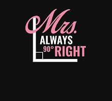Mrs. Always Right Women's Fitted V-Neck T-Shirt