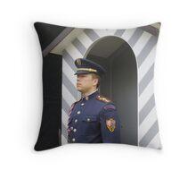 Castle Guard, Prague, Czech Republic Throw Pillow