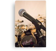 Microphone and Drums Canvas Print