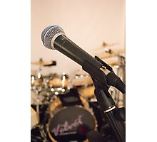 Microphone and Drums Photographic Print