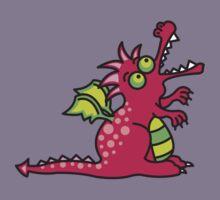 Red Magic Dragon Kids Tee