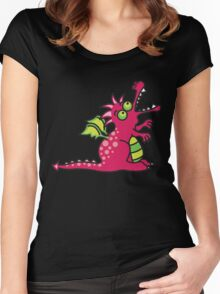 Red Magic Dragon Women's Fitted Scoop T-Shirt