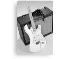 Guitar & Amp B&W Canvas Print