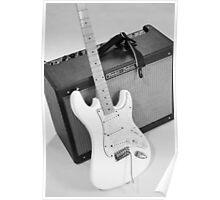 Guitar & Amp B&W Poster
