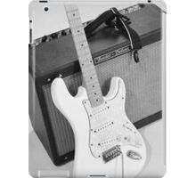 Guitar & Amp B&W iPad Case/Skin