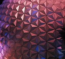 Epcot Spaceship Earth At Night by abuehrle