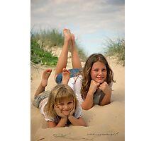 Beach Sisters © Vicki Ferrari Photography Photographic Print