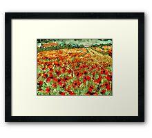 Poppy Field Framed Print