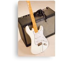 Guitar & Amp Canvas Print