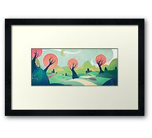 *friendly background - soft vector colors* Framed Print