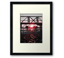 Hot Rails Framed Print