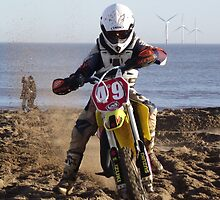 Racing on the Beach - Skegness by Stephen Willmer