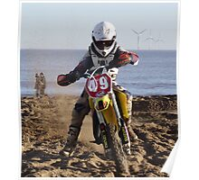 Racing on the Beach - Skegness Poster