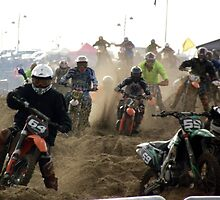 Race to the Finish - Skegness Beach by Stephen Willmer