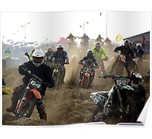 Race to the Finish - Skegness Beach Poster