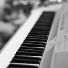Keyboard and Drums B&W by destinysagent