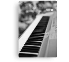 Keyboard and Drums B&W Canvas Print