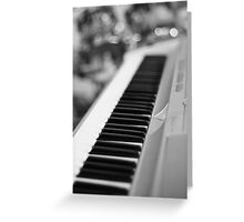Keyboard and Drums B&W Greeting Card