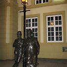 Laurel and Hardy - Ulverston by Marilyn Harris