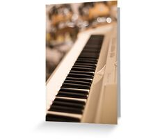 Keyboard and Drums Greeting Card