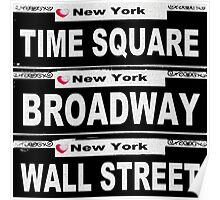 Street Sign Scenes of New York  Poster