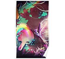 hummingbird rainforest fantasy  Poster
