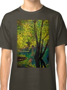 Fluorescence streams through Great Meadows Classic T-Shirt
